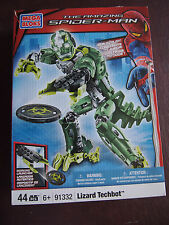 MEGA BLOKS SPIDER MAN LIZARD TECHBOT  91332