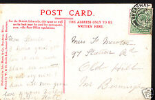 Genealogy Postcard - Family History - Newton - Old Hill - Nr Birmingham  BX624