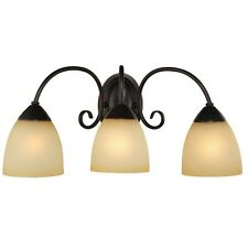 Oil Rubbed Bronze 3 Bulb Bathroom Light Wall Sconce #168397