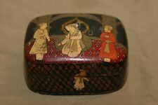 Antique Asian Antiques Hand Made & Painted Lacquerware Box Middle East