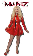 Misfitz red rubber latex skater mistress dress sizes 8-32/made to measure/TV fit
