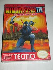 Ninja Gaiden III 3 Ancient Ship of Doom (Nintendo NES, 1991) NEW Factory Sealed
