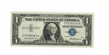1957 $1.00 Uncirculated SILVER CERTIFICATES BLUE SEAL