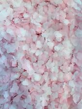 30,000 Biodegradable Wedding Decoration Confetti Hearts, Pastel Pink And White