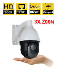 "1.3MP 960P 2.8-8MM 3X ZOOM 3"" MINI HD IP POE CCTV Security IR PTZ Camera ONVIF"