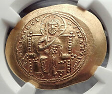 Constantine X 1059AD JESUS CHRIST w BIBLE Byzantine Nomisma Gold Coin NGC i58854
