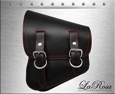 2007 UP LaRosa Black Leather Red Thread Harley Night Rod Special Left Saddlebag
