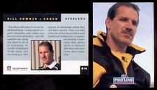 1992 Pro Line Portraits BILL COWHER Pittsburgh Steelers Rookie Card