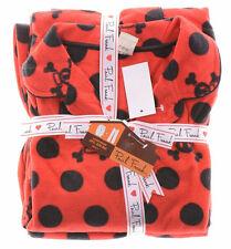 $45 Paul Frank Sleepwear 2 Piece Gift Set Red Polka Dot Skulls Women's M