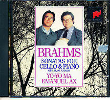 Brahms: Sonatas for Cello & Piano Yo Yo Ma Emanuel Ax CD 1992 Sony
