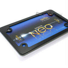 Neo Black Metal License Plate Tag Frame for Motorcycle/Scooter/Chopper/Bike