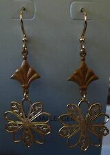 Jody Coyote Earrings JC18 New hypoallergenic gold dangle Made USA
