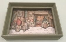 "Anton Pieck Wood Framed 3D Lithograph Art Print ""Water En Vuur-Vintage.   *458"