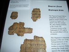 Papyrus Fouad #266 Tetragrammaton Septuagint  Watchtower Research Jehovah
