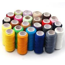 24 Colour Spools Best Quality Sewing Embroidery 100% Pure Cotton Thread Reel