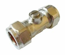 15mm Ballofix Valve - Chrome Plated Brass Isolator Valve