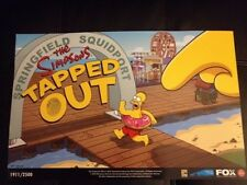 "SDCC 2013 THE SIMPSONS TAPPED OUT POSTER 11""x17"" COMIC CON EXCLUSIVE #/2000 FOX"
