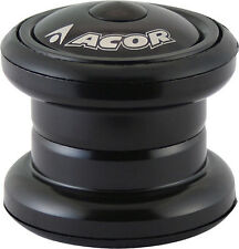 "ACOR 1.1/8"" casque mtb vélo cycle 28.6mm ahead threadless noir"