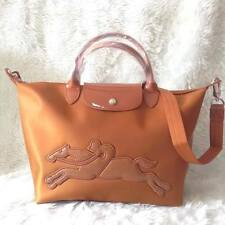 Longchamp Bag Neo Victoire (Medium) Shoulder Handbag Satchel Sling - caramel