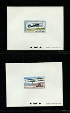 Mauritania 1966 Aviation Scott C53-6.  Set of 4 Deluxe Proofs