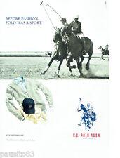 PUBLICITE ADVERTISING 1016  2012  U.S Polo Asnn   vetements polo de sport