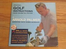 Vintage ARNOLD PALMER Personal GOLF INSTRUCTIONS From Driver to Putter RECORDS