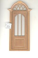 Door by Bespaq 806NWN Craftsman style -  wooden dollhouse miniature 1:12 scale