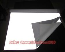 "12"" x 39"" Silver Black Reflective Fabric Sew On 0.3Mx1M Complies to ANSI EN471"