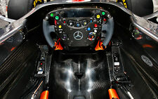 Framed Print - Drivers View of a Mercedes F1 Race Car (Picture Poster Sport Art)
