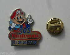 Super Mario SOS Nintendo Club Helpline VINTAGE Enamel METAL PIN BADGE Pins NES