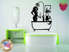 Wall Stickers Vinyl Decal Sexy Girl Takes Shower For Bathroom z1165