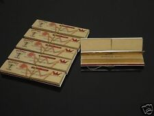 HORNET 6 Booklets 110mm King Size Organic Hemp Tobacco Rolling Papers+Tips #44