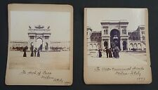 Antique 1897 vintage Milan Italy photos lot of 2