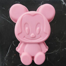 "Mickey Mouse Cake Pan Disneyland Cartoon Foodsafe Silicone 6.5"" - Plata Bakeware"