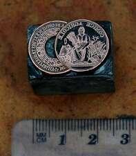 MEDAILLE Galvano Druckstock Druckplatte Bleisatz Buchdruck Frankreich Druck