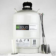 U.S.Solid® 15 L Liquid Nitrogen Storage Tank Cryogenic LN2 Container Dewar