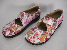ALEGRIA KAITLYN KAI-557 FLORAL PRINT LEATHER MARY JANE CLOGS SHOES WOMEN'S 41