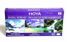 52mm Hoya Digital Filter Kit II UV CPOL NDx8 Circular Polarizer Neutral Density