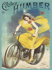 Cycles Humber Bike Bicycle Cycle Outdoors Sport Cyclist Metal Sign