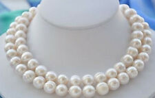 "11-12MM NATURAL SOUTH SEA WHITE BAROQUE PEARL NECKLACE 34"" LL001"