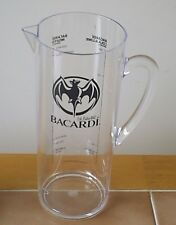 BACARDI White Rum Plastic Drinks Pitcher Jug - 23cm tall approximately. Unused