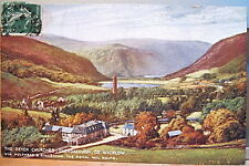Irish Postcard GLENDALOUGH Seven Churches Wicklow Ireland L&NW Royal Mail McCorq