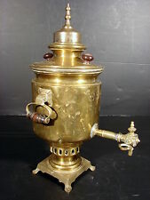 Rare Samovar Gribova Andrew Mironavitch en cuivre Tula 1872, H - 40 cm