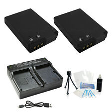 2X EN-EL12 Replacement Battery & USB Dual Charger f/Nikon AW100 110 P300 330 S31