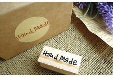 HAND Made in legno Rubber Stamp Craft Scrapbooking fatti a mano Etichette Regali UK