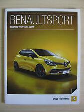 Renaultsport Megane 265, Clio 200 Turbo & Clio GT UK Sales Brochure    (2014).