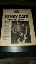Stray Cats Live At Ritz Rare Original Radio Promo Poster Ad Framed!