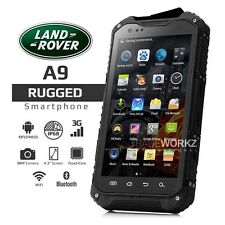 "Unlocked LAND ROVER A9 Black IP68 4.3"" Waterproof Rugged Smartphone Cell Phone"