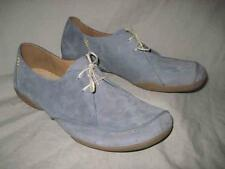 CLARKS 68603 womens blue nubuck oxford casual shoes size 11 M