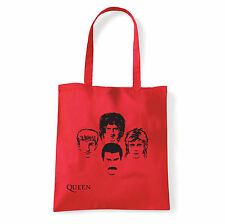 Art T-shirt, Borsa shoulder Queen Faces, Rossa, Shopper, Mare